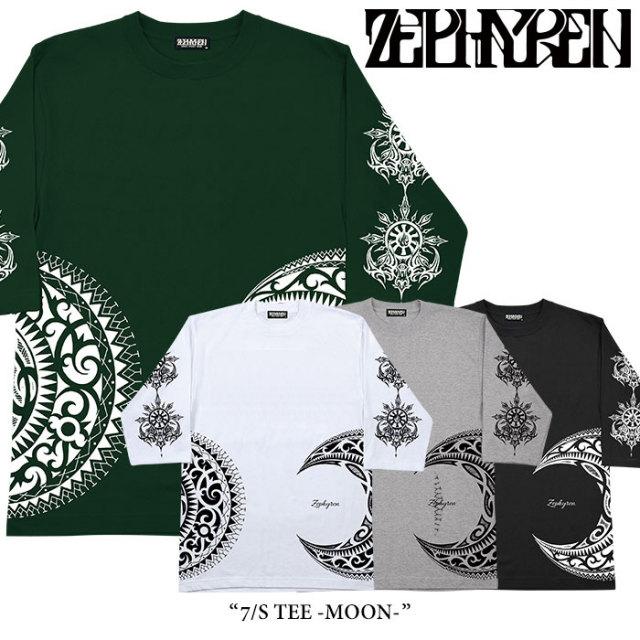 ZEPHYREN(ゼファレン) 7/S TEE -MOON- 【2018SPRING/SUMMER先行予約】 【キャンセル不可】 【Z17AM02】