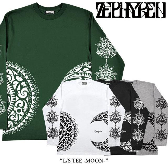 ZEPHYREN(ゼファレン) L/S TEE -MOON- 【2018SPRING/SUMMER先行予約】 【キャンセル不可】 【Z17AM05】