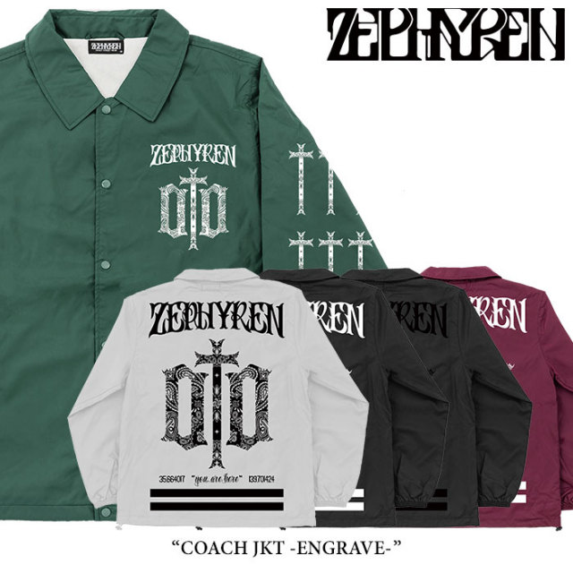 ZEPHYREN(ゼファレン) COACH JKT -ENGRAVE- 【2018SPRING/SUMMER新作】 【送料無料】【即発送可能】 【Z17PJ01】
