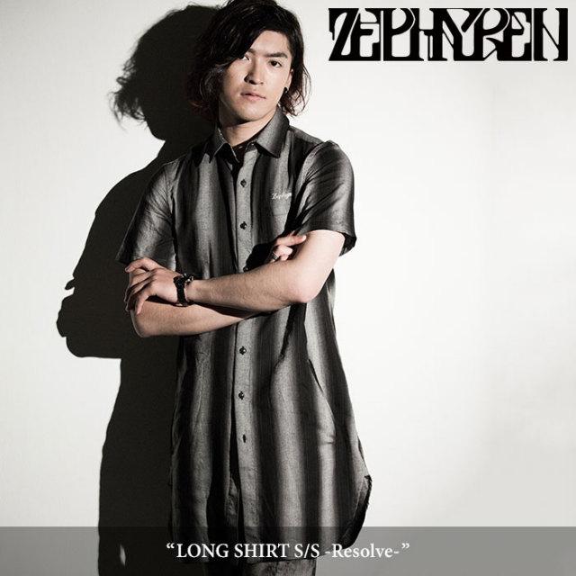 ZEPHYREN(ゼファレン) LONG SHIRT S/S -Resolve- 【2018SPRING/SUMMER先行予約】 【送料無料】【キャンセル不可】 【Z18PC02】