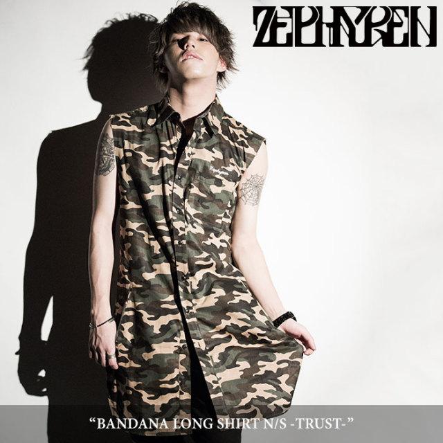 ZEPHYREN(ゼファレン) BANDANA LONG SHIRT N/S -TRUST- 【2018SPRING/SUMMER先行予約】 【送料無料】【キャンセル不可】 【Z18PC
