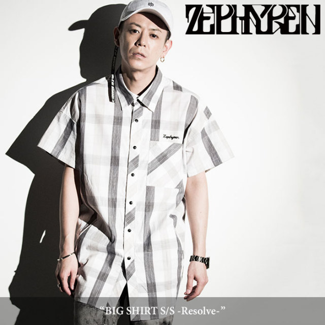 ZEPHYREN(ゼファレン) BIG SHIRT S/S -Resolve- 【2018SPRING/SUMMER先行予約】 【送料無料】【キャンセル不可】 【Z18PC06】