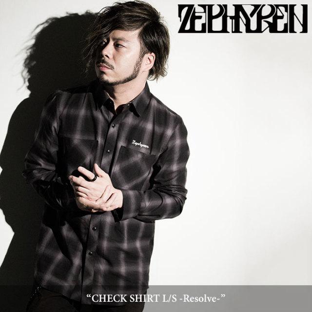 ZEPHYREN(ゼファレン) CHECK SHIRT L/S -Resolve- 【2018SPRING/SUMMER先行予約】 【送料無料】【キャンセル不可】 【Z18PD01】