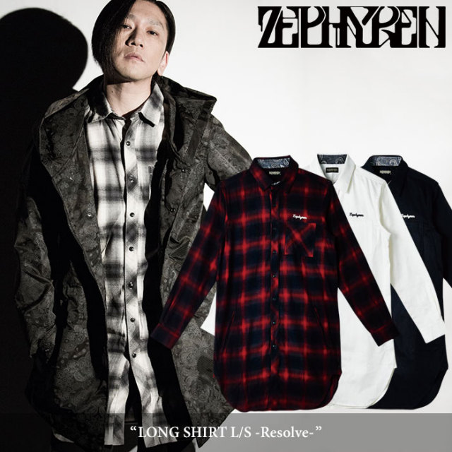 ZEPHYREN(ゼファレン) LONG SHIRT L/S -Resolve- 【2018SPRING/SUMMER先行予約】 【送料無料】【キャンセル不可】 【Z18PD03】