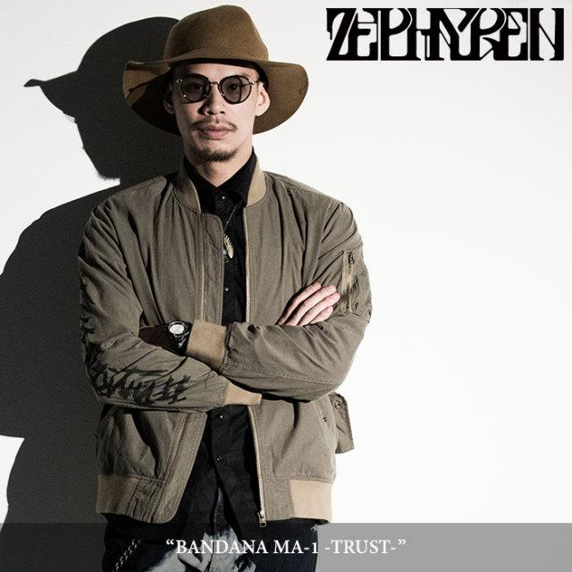 ZEPHYREN(ゼファレン) BANDANA MA-1 -TRUST- 【2018SPRING/SUMMER先行予約】 【送料無料】【キャンセル不可】 【Z18PJ02】