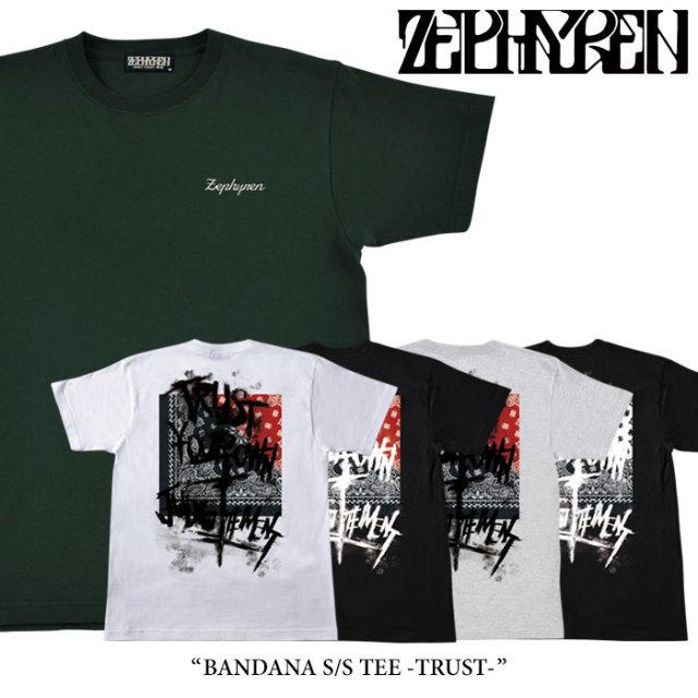 ZEPHYREN(ゼファレン) BANDANA S/S TEE -TRUST- 【2018SPRING/SUMMER先行予約】 【キャンセル不可】 【Z18PL01】