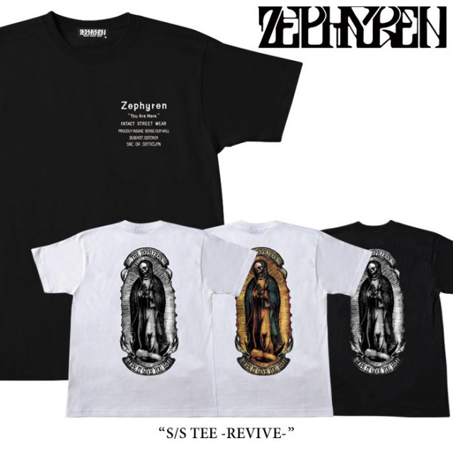 ZEPHYREN(ゼファレン) S/S TEE -REVIVE- 【2018SPRING/SUMMER先行予約】 【キャンセル不可】 【Z18PL06】