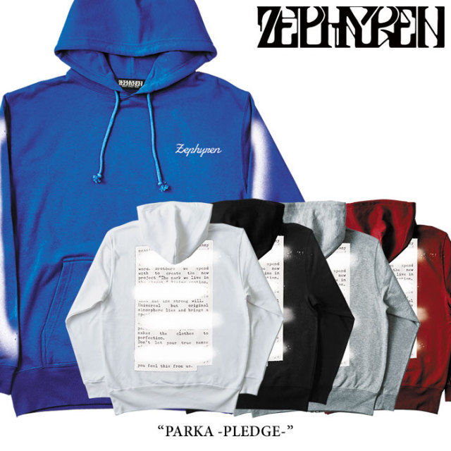 ZEPHYREN(ゼファレン) PARKA -PLEDGE- 【2018SPRING/SUMMER先行予約】 【送料無料】【キャンセル不可】 【Z18PN04】