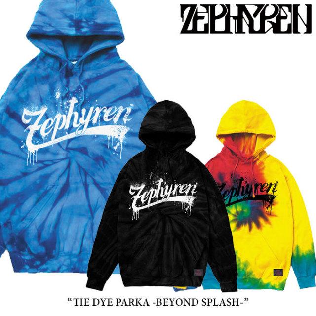 ZEPHYREN(ゼファレン) TIE DYE PARKA -BEYOND SPLASH- 【2018SPRING/SUMMER先行予約】 【送料無料】【キャンセル不可】 【Z18PN0
