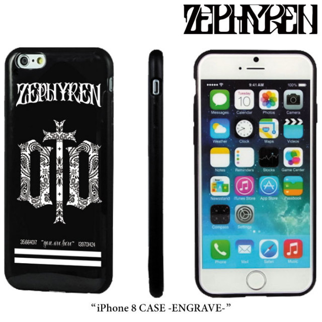 ZEPHYREN(ゼファレン) iPhone 8 CASE -ENGRAVE- 【2018SPRING/SUMMER先行予約】 【キャンセル不可】 【Z18PX03】