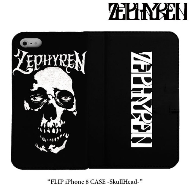 ZEPHYREN(ゼファレン) FLIP iPhone 8 CASE -SkullHead- 【2018SPRING/SUMMER先行予約】 【キャンセル不可】 【Z18PX05】