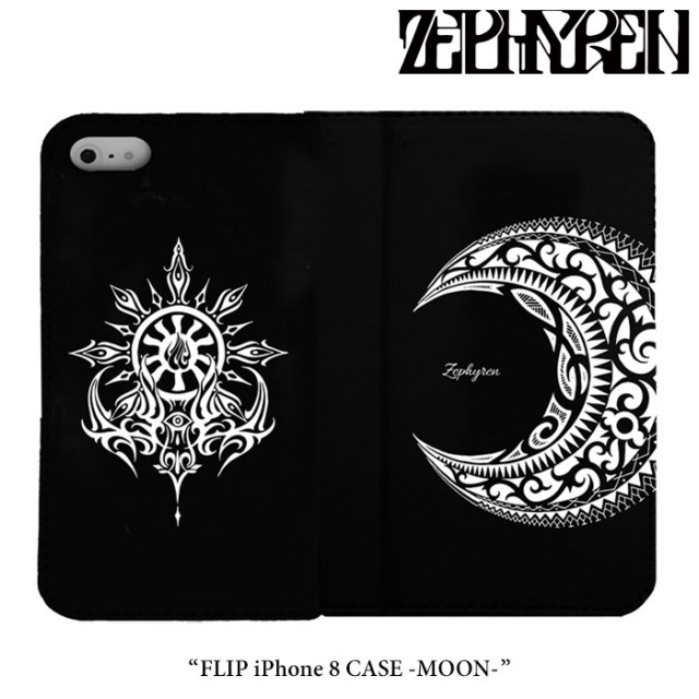 ZEPHYREN(ゼファレン) FLIP iPhone 8 CASE -MOON- 【2018SPRING/SUMMER先行予約】 【キャンセル不可】 【Z18PX07】