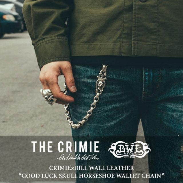 CRIMIE(クライミー) GOOD LUCK SKULL HORSESHOE WALLET CHAIN 【2018 SUMMER先行予約】 【送料無料】【キャンセル不可】 【C1H3-