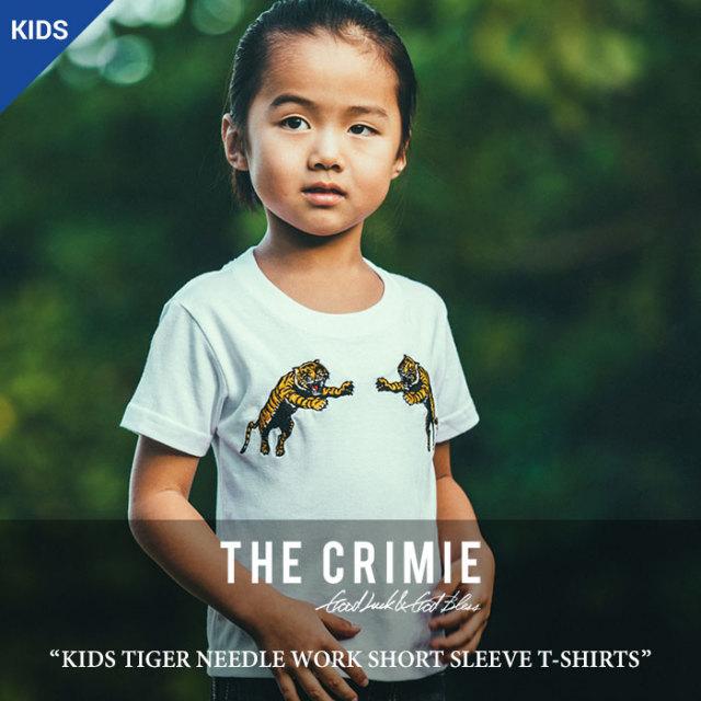 CRIMIE(クライミー) KIDS TIGER NEEDLE WORK SHORT SLEEVE T-SHIRT 【2018 SUMMER先行予約】 【キャンセル不可】 【C1H3-TEK1】