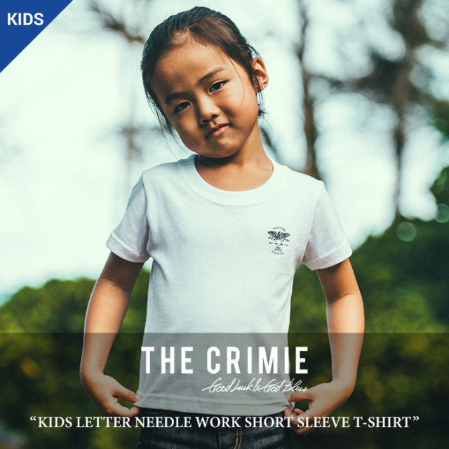CRIMIE(クライミー) KIDS  NEEDLE WORK SHORT SLEEVE T-SHIRTS 【2018 SUMMER先行予約】 【キャンセル不可】 【C1H3-TEK2】