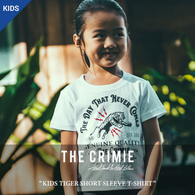 CRIMIE(クライミー) KIDS TIGER NECK SHORT SLEEVE T-SHIRT 【2018 SUMMER先行予約】 【キャンセル不可】 【C1H3-TEK3】