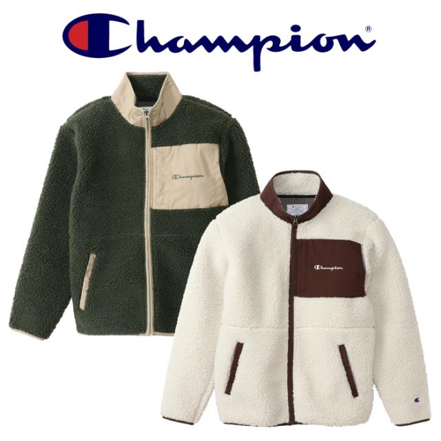CHAMPION(チャンピオン) ZIP JACKET ボアフリースジップジャケット(CAMPUS) 【ボアジャケット フリースジャケット】【2020FW】【C3