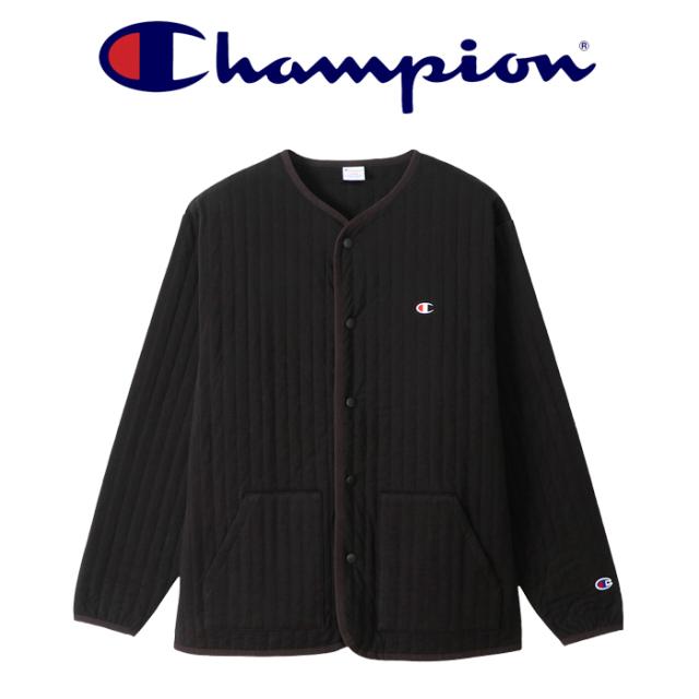 CHAMPION (チャンピオン) SNAP JACKET 【スナップジャケット ノーカラー キルティング 中綿】【C3-U008】【2021FW】