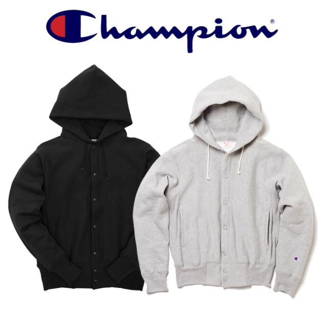 CHAMPION(チャンピオン) REVERSEWEAVE (赤タグ) スナップフードスウェットシャツ(12.5oz) 【リバースウィーブ】【C5-E103】【送料