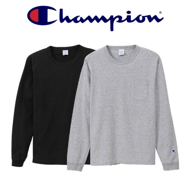 CHAMPION(チャンピオン) LONG SLEEVE TEE SHIRT (ポケット付きロングスリーブTシャツ) 【2019FW】【ロングスリーブTシャツ】 【MA