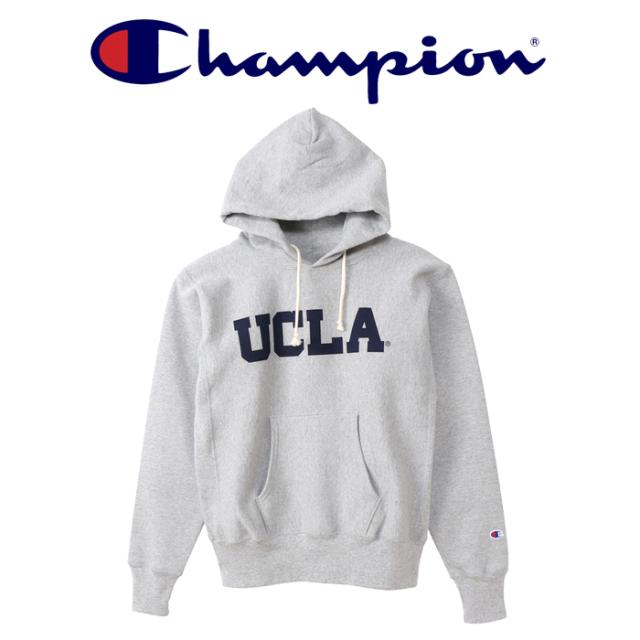 CHAMPION(チャンピオン) REVERSEWEAVE (赤タグ) プルオーバースウェットパーカー(12.5oz)(UCLA) 【リバースウィーブ】【C5-S101】