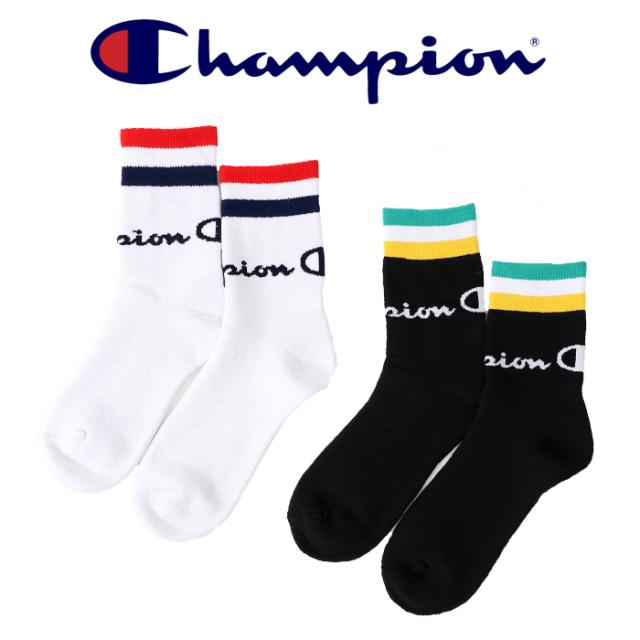 CHAMPION(チャンピオン) ロークルーソックス ライン 【2019FW】【靴下 ソックス】 【フルパイル】【CMSAQ104】