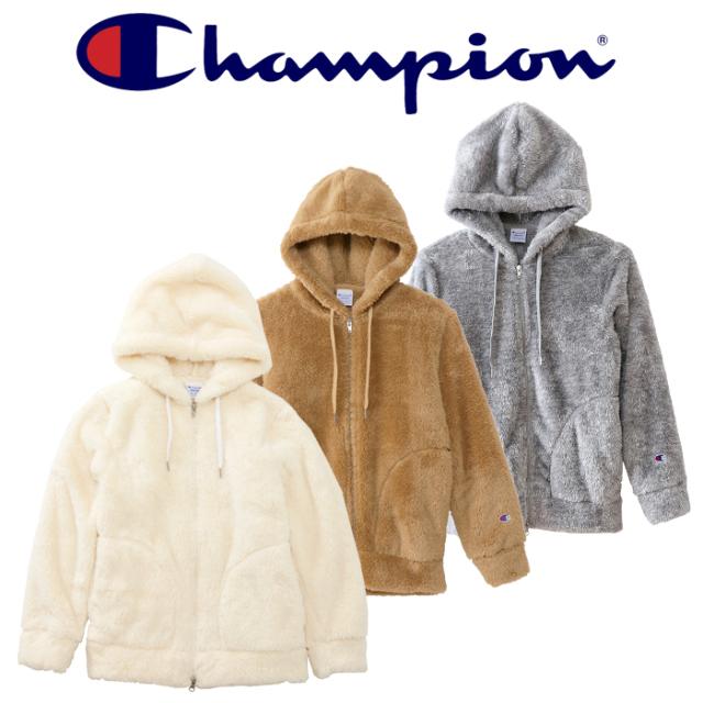 CHAMPION(チャンピオン) ZIP HOOD PARKA ウィメンズ ジップフードフリースジャケット   【CW-L604】【2020FW】 【フリースパーカ