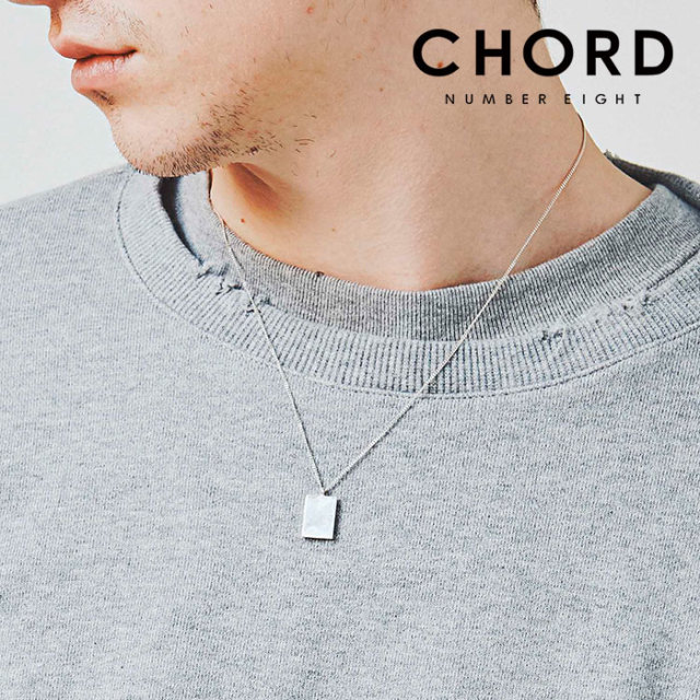CHORD NUMBER EIGHT(コードナンバーエイト) PLATE NECKLACE 【2019SPRING/SUMMER先行予約】 【キャンセル不可】 【CHORD ネック