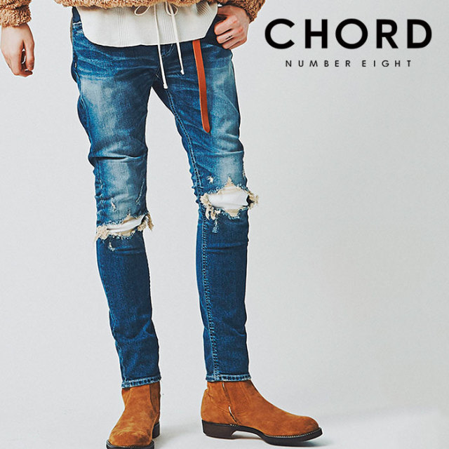 CHORD NUMBER EIGHT(コードナンバーエイト) OLIVER DESTROY DENIM PANTS 【2019SPRING/SUMMER先行予約】 【キャンセル不可】【N8M