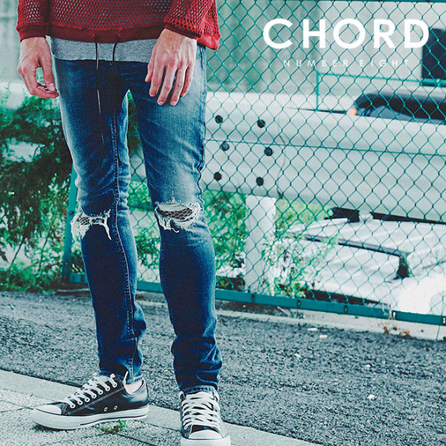 CHORD NUMBER EIGHT(コードナンバーエイト) OLIVER DESTROY DENIM PANTS 2 (MESH) 【2019SPRING/SUMMER先行予約】 【キャンセル不