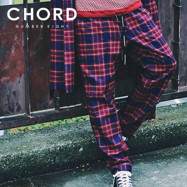 CHORD NUMBER EIGHT(コードナンバーエイト) CHECK  PANTS 【2019SPRING/SUMMER先行予約】 【キャンセル不可】【N8M1K1-PT09】