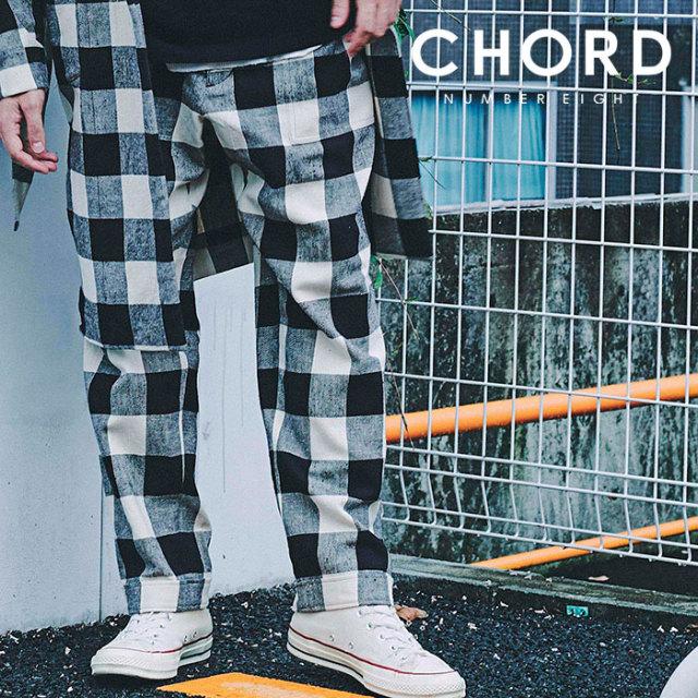 CHORD NUMBER EIGHT(コードナンバーエイト) BLOCK CHECK PANTS 【2019SPRING/SUMMER先行予約】 【キャンセル不可】【N8M1K1-PT10