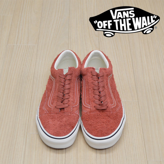 【VANS(バンズ)】 OLD SKOOL (Hairy Suede) Hot Sauce/Snow White 【VANS スニーカー】【オールドスクール】【VN0A38G1UNG】