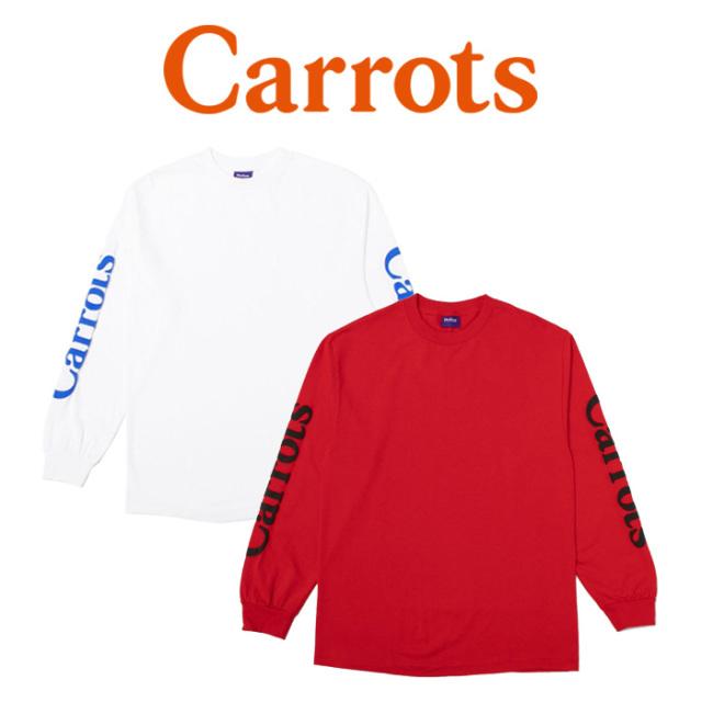 【SALE30%OFF】 CARROTS(キャロッツ) WORDMARK LONGSLEEVE 【セール】【ロングスリーブTシャツ ロンT 長袖】【シンプル ロゴ お