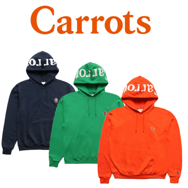 "CARROTS(キャロッツ) CHAMPION BLOCK C HOODIE 【""Carrots"" -by Anwar Carrots-】 【スウェット パーカー】【CHAMP-BCHD】"
