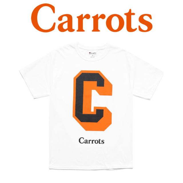"""CARROTS(キャロッツ) CHAMPION UNIVERSITY BIG C T-SHIRT 【""""Carrots"""" -by Anwar Carrots-】 【Tシャツ】【CHAMP-CUBCT】【チャン"""