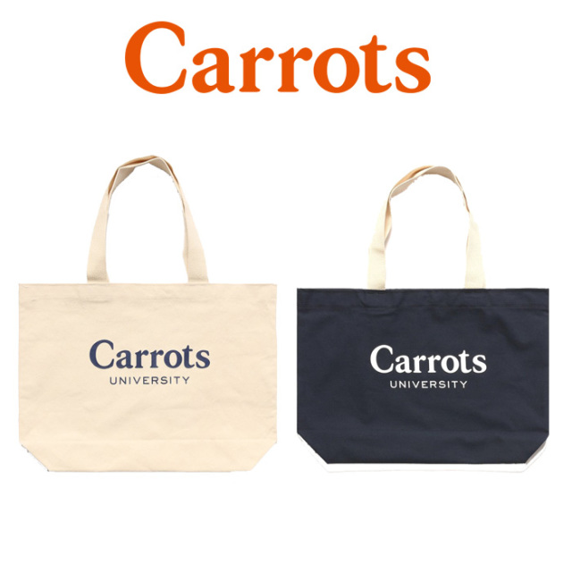 "CARROTS(キャロッツ) CARROTS UNIVERSITY TOTE BAG 【""Carrots"" -by Anwar Carrots-】【2018FALL COLLECTION】 【トートバッグ】"