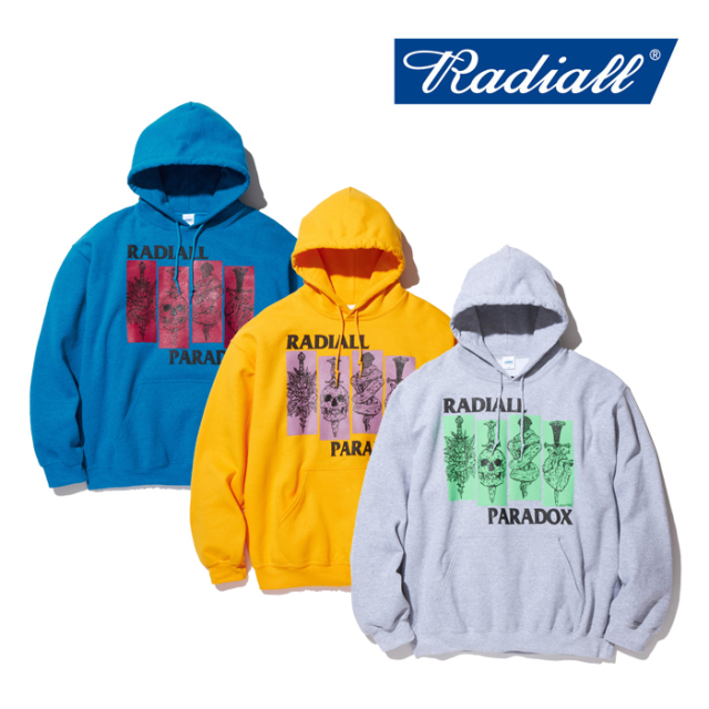 RADIALL(ラディアル) SST-HOODIE SWEATSHIRT L/S 【2019 AUTUMN&WINTER COLLECTION】 【RAD-19AW-JW002】【プルオーバーパーカー