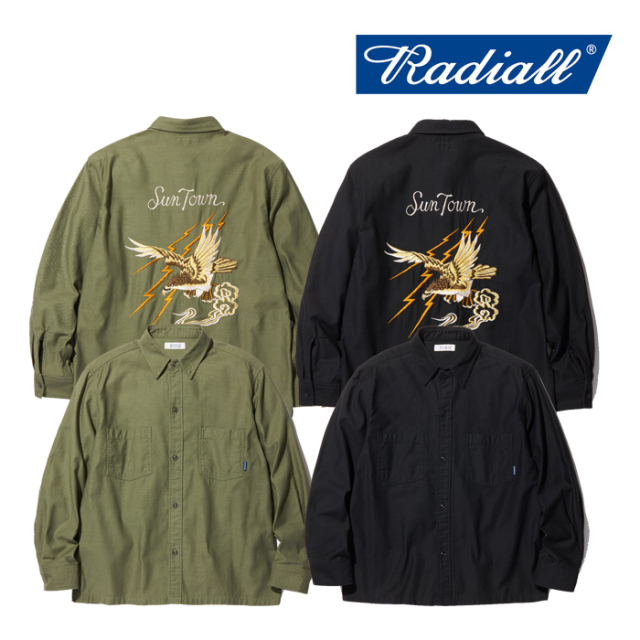 RADIALL(ラディアル) FAR EAST-REGULAR COLLARED SHIRT L/S 【2019 AUTUMN&WINTER COLLECTION】 【RAD-19AW-SH001】【ロングスリ