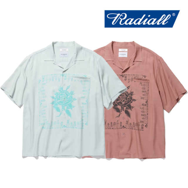 RADIALL(ラディアル) CHICANO ROSE-OPEN COLLARED SHIRT S/S 【2019 SPRING&SUMMER COLLECTION】 【RAD-19SS-JW003】【半袖 レー