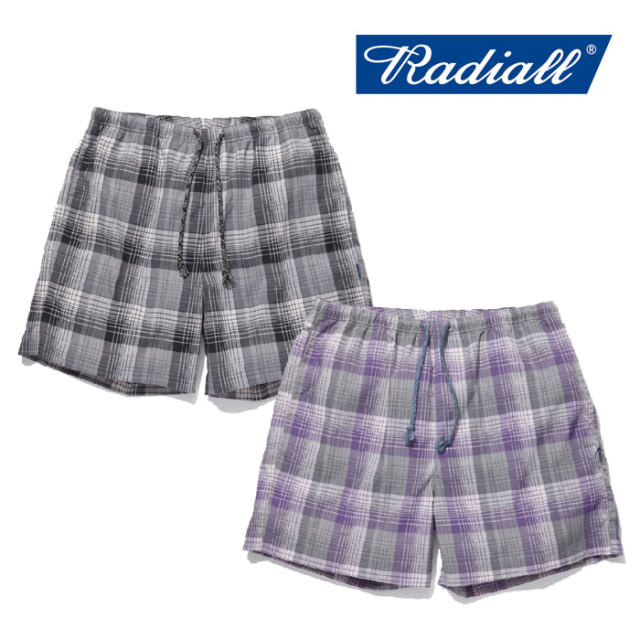 RADIALL(ラディアル) COMPTON-EASY SHORTS 【2019 SPRING&SUMMER COLLECTION】 【RAD-19SS-PT006】【イージーショーツ】【ショー