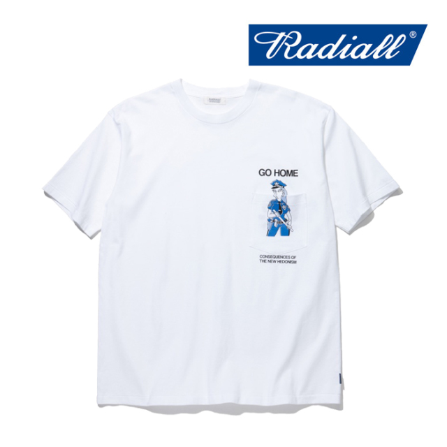 RADIALL(ラディアル) LADY COP-CREW NECK POCKET T-SHIRT S/S 【2019 SPRING&SUMMER COLLECTION】 【RAD-19SS-TEE010】【Tシャツ