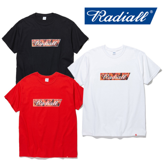 RADIALL(ラディアル) FLAME FLAGS-CREW NECK T-SHIRTS S/S 【2019 SPRING&SUMMER COLLECTION】 【RAD-19SS-TEE016】【Tシャツ】