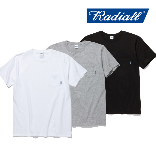 RADIALL(ラディアル) PLAIN-CREW NECK POCKET T-SHIRTS S/S 【2019 SPRING&SUMMER COLLECTION】 【RAD-19SS-TEE017】【Tシャツ】