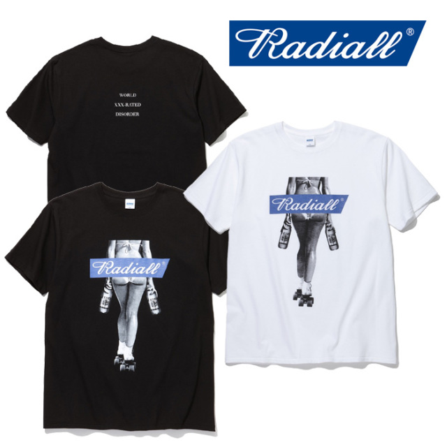 RADIALL(ラディアル) FOURTY-OZ LADY-CREW NECK T-SHIRTS S/S 【2019 SPRING&SUMMER COLLECTION】 【RAD-19SS-TEE019】【Tシャツ