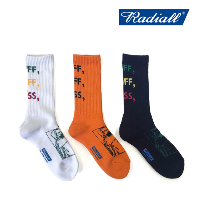 RADIALL(ラディアル) 2PAC SOX PASS LONG 【2019 SPRING&SUMMER SPOT】 【RADIALL ソックス】 【RAD-PAC029】