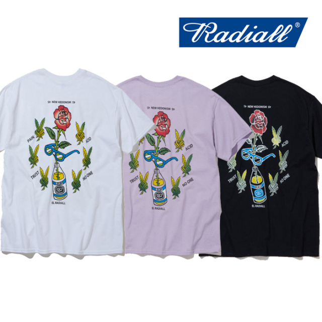 RADIALL(ラディアル) HEDONISM-CREW NECK T-SHIRT S/S 【2019 SPRING&SUMMER SPOT COLLECTION】 【RAD-19SS-SPOT-TEE003】【Tシャ