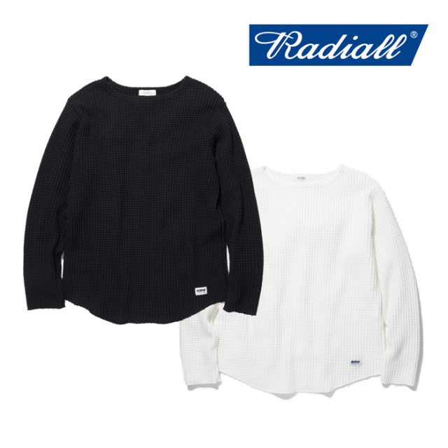 RADIALL(ラディアル) BIG WAFFLE-BOAT NECK T-SHIRT L/S 【2019 AUTUMN&WINTER COLLECTION】 【送料無料】【RAD-19AW-CUT004】【