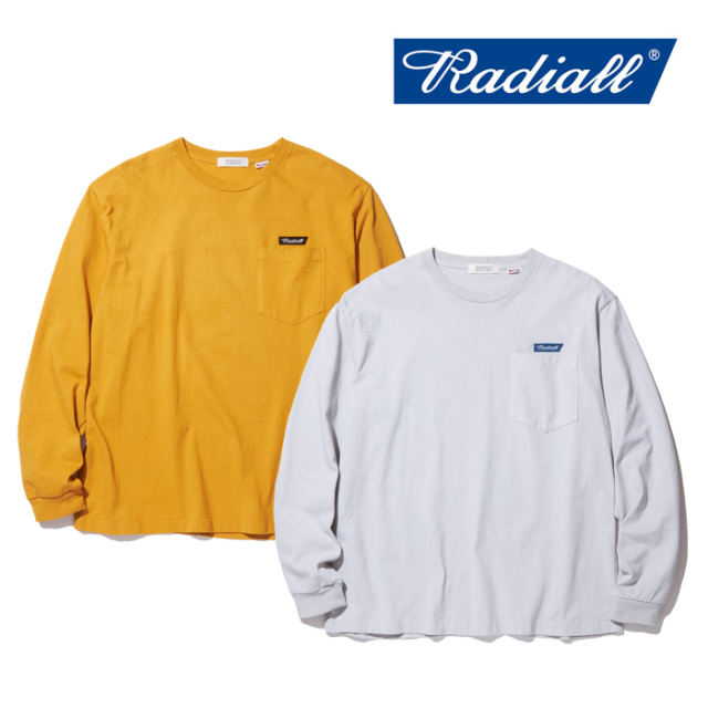 RADIALL(ラディアル) FLAGS-CREW NECK POCKET T-SHIRT L/S 【2019 AUTUMN&WINTER COLLECTION】 【RAD-19AW-CUT020】【ロングスリ