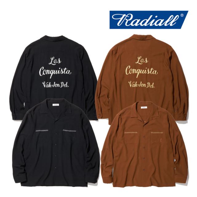 RADIALL(ラディアル) VAHJON-OPEN COLLARED SHIRT L/S 【2019 AUTUMN&WINTER COLLECTION】 【送料無料】【RAD-19AW-SH002】【ロン